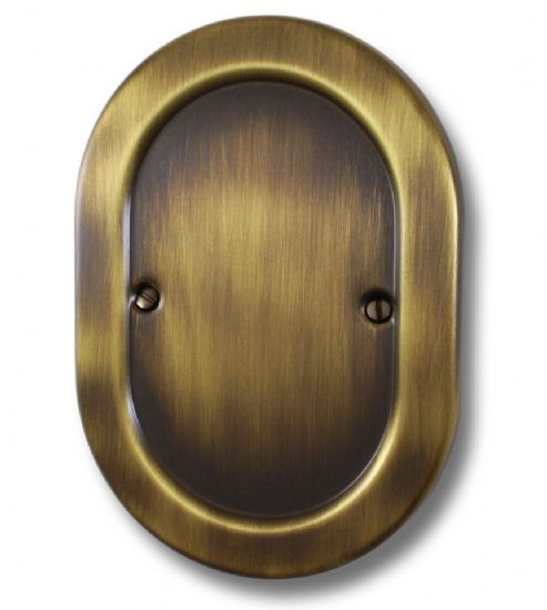 G&H Oval Plate Antique Bronze